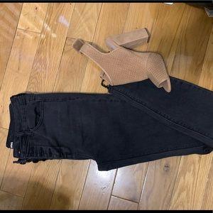 Black wash skinny jeans